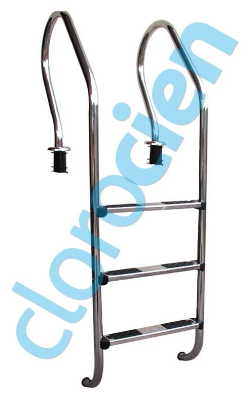 Clorocien productos escalera 3 pelda os acero - Escalera 3 peldanos ...